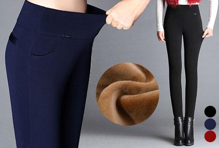 Elastische fleece broek
