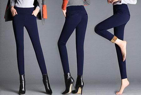 Elastische fleece broek | Warme en comfortabele musthave  Donkerblauw