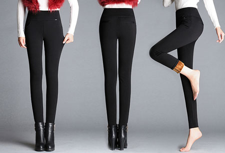 Elastische fleece broek | Warme en comfortabele musthave  Zwart