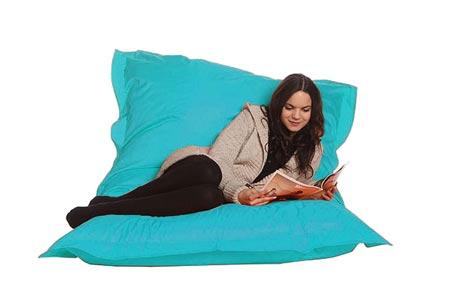 Drop & Sit zitzak | Keuze uit 18 kleuren & 2 formaten - nu extra voordelig! Turquoise