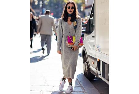 Lange sweater dress | Super comfy maxi jurk voor elk figuur