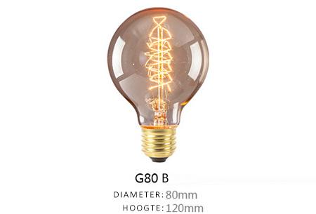 Vintage kooldraad lampjes | Creëer een uniek & sfeervol lichtspektakel G80 - B