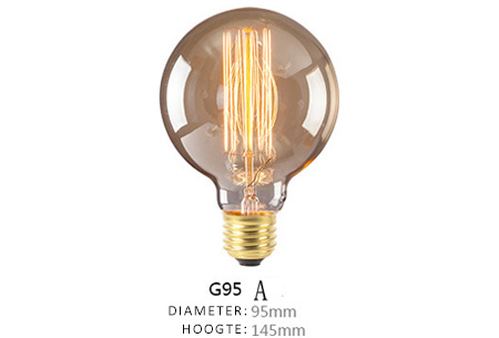 Vintage kooldraad lampjes | Creëer een uniek & sfeervol lichtspektakel G95 - A