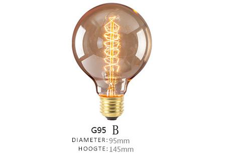 Vintage kooldraad lampjes | Creëer een uniek & sfeervol lichtspektakel G95 - B