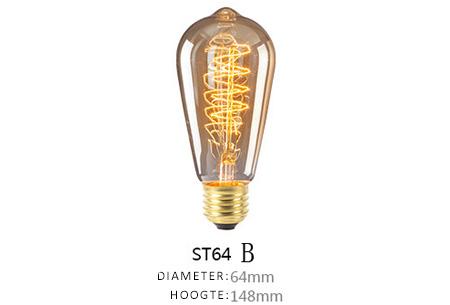 Vintage kooldraad lampjes | Creëer een uniek & sfeervol lichtspektakel ST64 - B