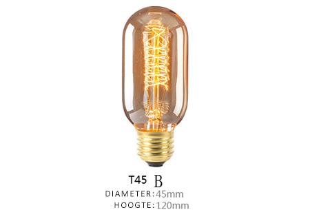 Vintage kooldraad lampjes | Creëer een uniek & sfeervol lichtspektakel T45 - B