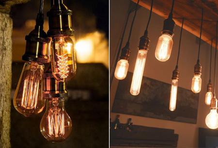 Vintage kooldraad lampjes