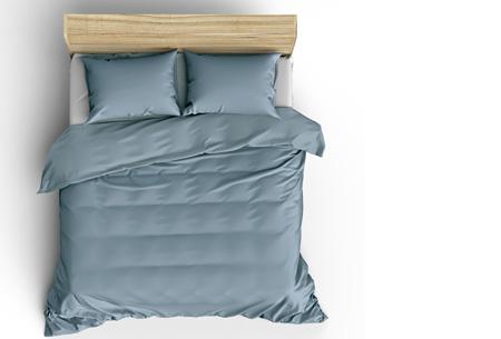 Pierre Cardin Stone Washed dekbedovertrek | Prachtige basic voor elke slaapkamer Ice blue