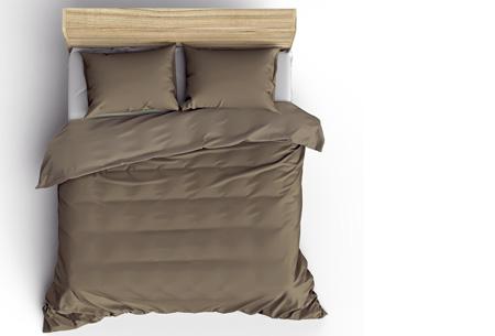Pierre Cardin Stone Washed dekbedovertrek | Prachtige basic voor elke slaapkamer Taupe