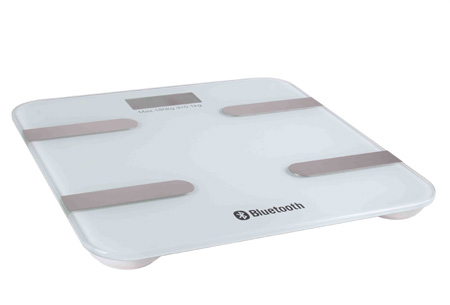 Bluetooth weegschaal met lichaamsanalyse | Meet o.a. je vocht- en vetpercentage & spier- en botmassa