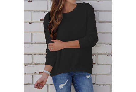 Sheep sweater | Zacht, warm en dé musthave van dit seizoen Zwart