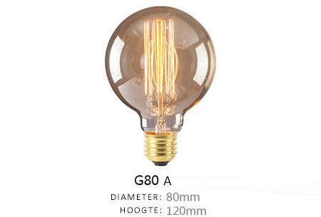 Vintage kooldraad lampjes | Creëer een uniek & sfeervol lichtspektakel G80 - A