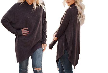 Oversized sweater | Verdoezelt de probleemzones en geeft een trendy look Coffee