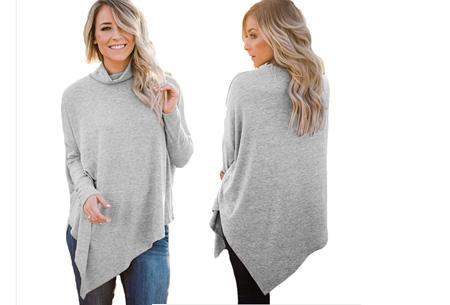 Oversized sweater | Verdoezelt de probleemzones en geeft een trendy look Grijs