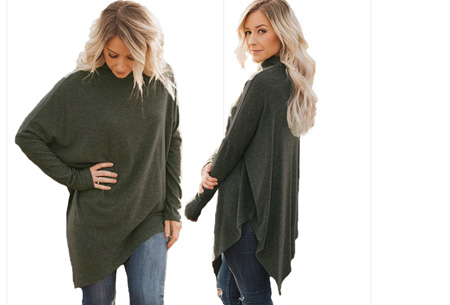 Oversized sweater | Verdoezelt de probleemzones en geeft een trendy look Legergroen