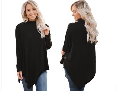 Oversized sweater | Verdoezelt de probleemzones en geeft een trendy look Zwart