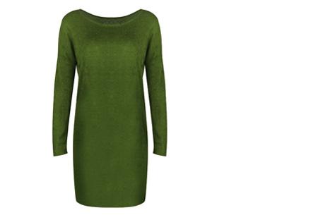 Stylish dress | Comfortabel en stijlvol in één Groen