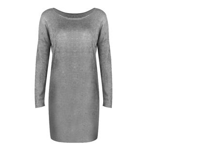 Stylish dress | Comfortabel en stijlvol in één Lichtgrijs