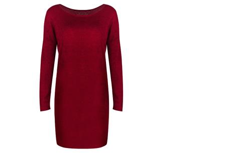 Stylish dress | Comfortabel en stijlvol in één Rood