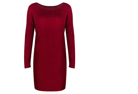 Stylish dress | Comfortabel en stijlvol in één Rood