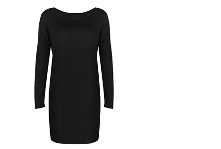 Stylish dress | Comfortabel en stijlvol in één Zwart