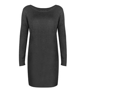 Stylish dress | Comfortabel en stijlvol in één Donkergrijs