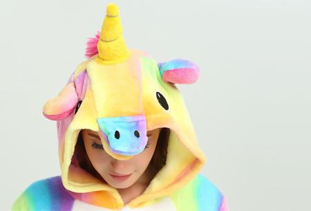 Unicorn onesie - Maat L - Multi geel