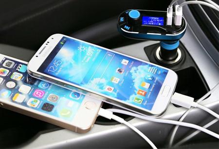 Parya Bluetooth 5-in-1 carkit | Handsfree bellen, FM ontvanger, mp3-speler, oplader & USB reader