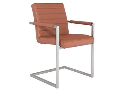 Conference Hugo stoelen   Prachtige stoelen van echt leder Cognac