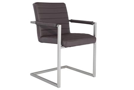 Conference Hugo stoelen   Prachtige stoelen van echt leder Donkerbruin