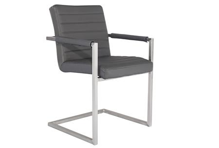 Conference Hugo stoelen   Prachtige stoelen van echt leder Donkergrijs