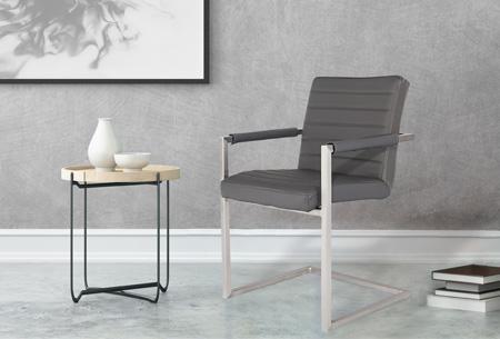 Conference Hugo stoelen   Prachtige stoelen van echt leder