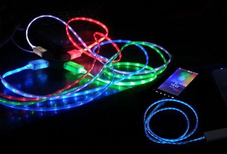 LED verlichte oplaadkabel 1+1 GRATIS