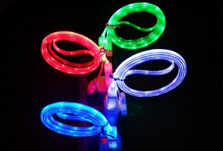 USB oplaadkabel met LED verlichting | Nu 1+1 GRATIS