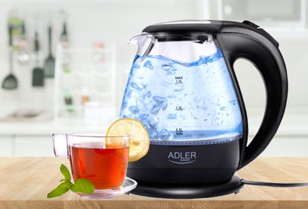 Dagaanbieding: Adler LED waterkoker nu in de aanbieding