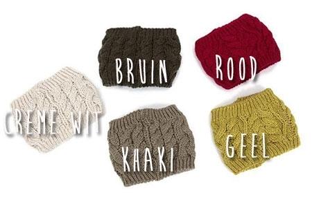 Gebreide hoofdband | Warm en fashionable
