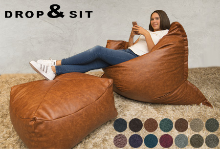 Drop & Sit leather look zitzakken