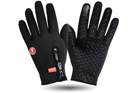 Tech fleece handschoenen | Bedien je smartphone met handschoenen aan tijdens de kou Zwart