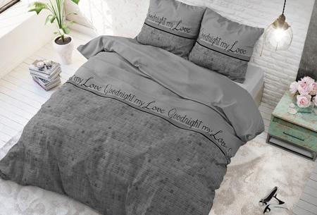 Luxe dekbedovertrekken | Keuze uit 11 prachtige prints Goodnight my love grey