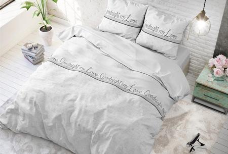 Luxe dekbedovertrekken | Keuze uit 11 prachtige prints Goodnight my love white