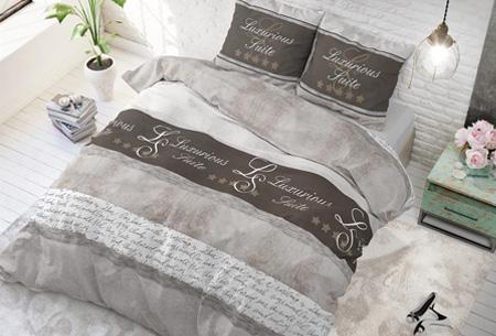 Luxe dekbedovertrekken | Keuze uit 11 prachtige prints Hotel suite taupe