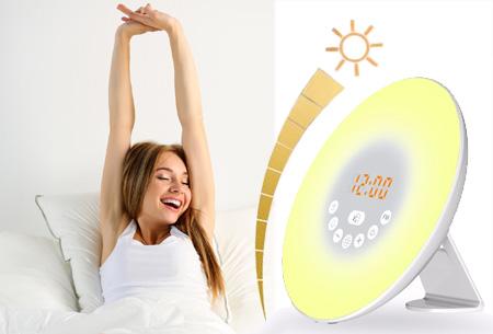 Dagaanbieding: LED lichtwekker met natuurgeluiden en FM-radio