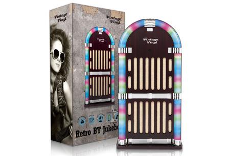 Vintage Vinyl Bluetooth Jukebox   Design van vroeger, techniek van nu