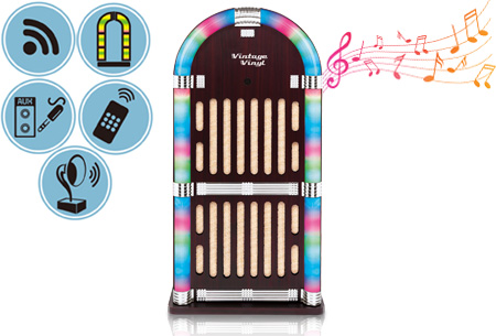 Dagaanbieding: Vintage Vinyl Bluetooth Jukebox nu met korting
