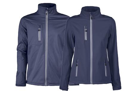 Softshell jassen | Winddichte, waterafstotende jas voor dame en heer blauw