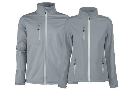 Softshell jassen | Winddichte, waterafstotende jas voor dame en heer grijs