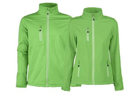 Softshell jassen | Winddichte, waterafstotende jas voor dame en heer limoen