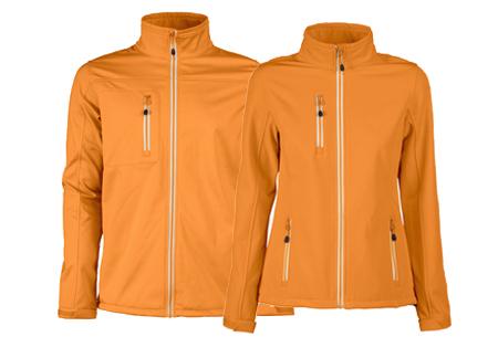 Softshell jassen | Winddichte, waterafstotende jas voor dame en heer oranje