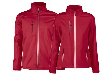 Softshell jassen | Winddichte, waterafstotende jas voor dame en heer rood