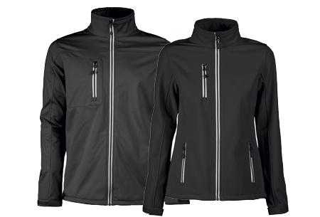 Softshell jassen | Winddichte, waterafstotende jas voor dame en heer zwart